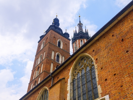 The Church of Mariacki or St Marys Church in Krakow Poland