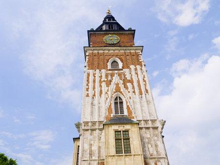 main market: Torre del Municipio nella Piazza del Mercato di Cracovia in Polonia