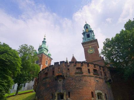 Fortifications of Wawel Castle Krakow Poland