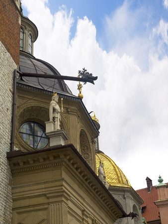 portcullis: The Cathedral in Wawel Castle in Krakow Poland