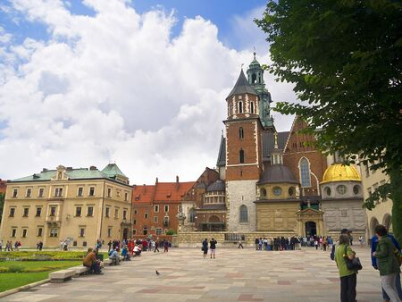 portcullis: the interior of Wawel Castle in Krakow Poland Editorial