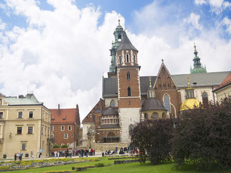 the interior of Wawel Castle in Krakow Poland
