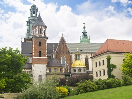cloth halls: the interior of Wawel Castle in Krakow Poland Editorial