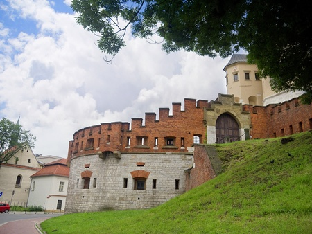 portcullis: Fortifications of Wawel Castle Krakow Poland Editorial