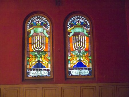 Window in Synagogue in Krakow Poland