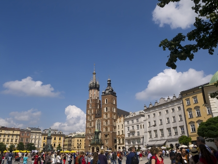 portcullis: The Great Market Square in Krakow Poland