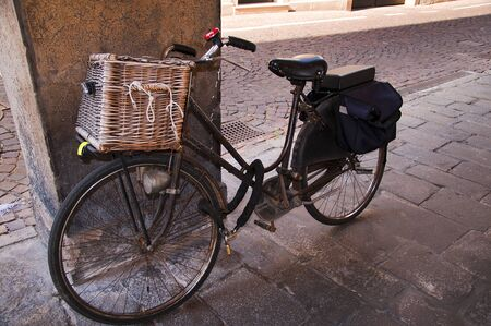 Bicycle in the colonnades of Padua Italy
