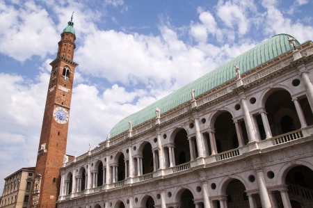 Basilica Palladiana  centrally located in Vicenza s Piazza dei Signori, of which Palladio himself said that it might stand comparison with any similar work of antiquity; The Torre di Piazza and the Loggia di Capitano are on this piazza
