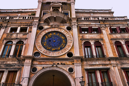 clock of the moors: Clock of the Moors in Venice Italy Editorial