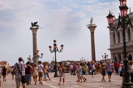 The Piazzetta in Venice Italy