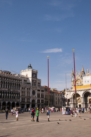 st marks square: St Marks Square in Venice Italy