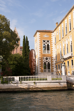 Art Gallery and the Accademia Bridge in Venice Italy