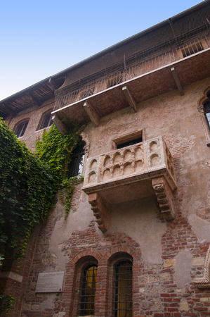Verona is a city in Northern Italy which features in Shakespeare s tragedy Romeo and Juliet  This is supposed to be the balcony where Romeo wooed Juliet