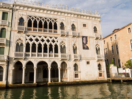 Ca doro Palazzo on the Grand Canal in Venice Italy