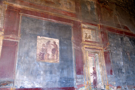 Wall paintings in Pompeii Italy