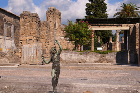 The House of the Dancing Faun in Pompeii Italy