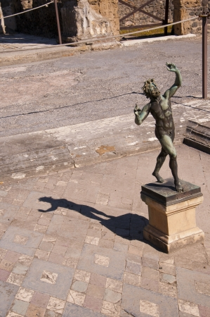 faun: The House of the Dancing Faun in Pompeii Italy