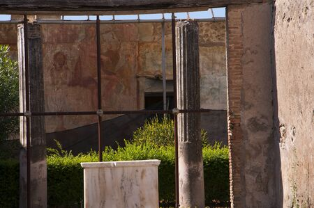 Beautiful Villa in the once buried city of Pompeii Italy photo