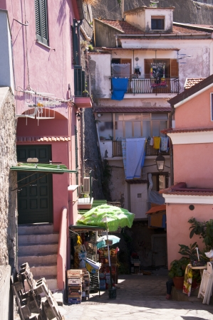 sirens: The old town of Sorrento going down into the original fishing harbour of Marina Grande in Sorrento a small city in Campania, Italy   It is a popular European tourist destination Editorial