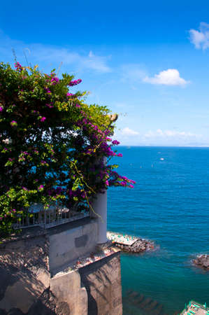 cliff edge: Viewpoint on the cliff edge of Sorrento Italy Stock Photo