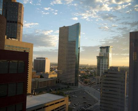 mile high city: Dawn over Denver the Mile High City in Colorado USA