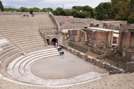 The Theatre in the ancient city of Pompeii Italy