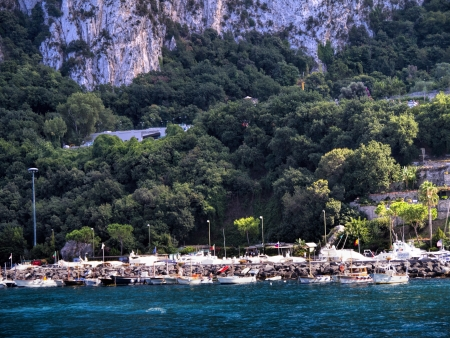 lenin: Capri is an Italian island off the Sorrentine Peninsula, on the south side of the Gulf of Naples  It has been a resort since the time of the Roman Republic  Editorial