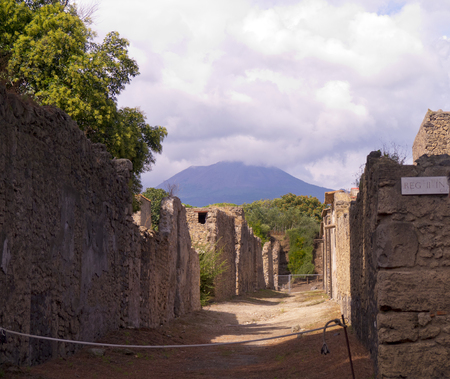 tremor: Street in the once buried city of Pompeii Italy