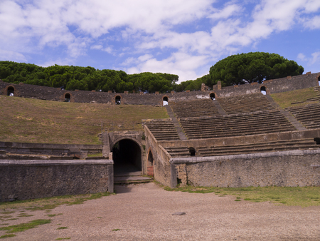 Amphitheatre in Ancient Pompeii Italy