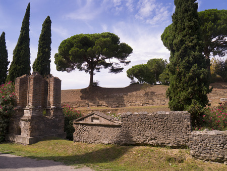 tremor: The Necropolis of the once buried city of Pompeii Italy