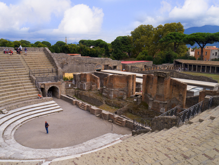 tremor: The Theatre in the ancient city of Pompeii Italy