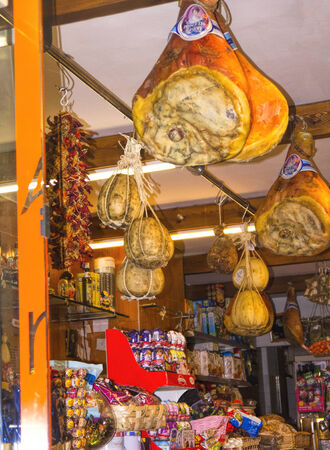 marquetry: Italian Grocers in the old town of Sorrento Italy
