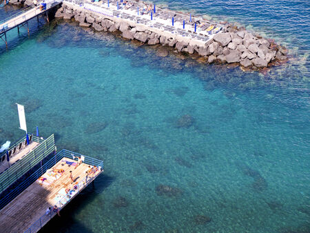 marquetry: Bathing Platforms in Sorrento Italy