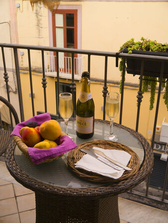 champers: A small celebration in Sorrento Italy Editorial