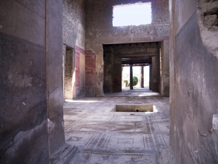 Beautiful villa in the once buried City of Pompeii Italy