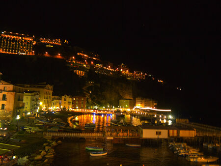 marquetry: Marina Grande the old fishing village of Sorrento in Campania Italy Editorial