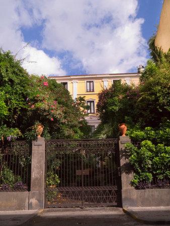 marquetry: Villa Caruso in Sorrento Italy
