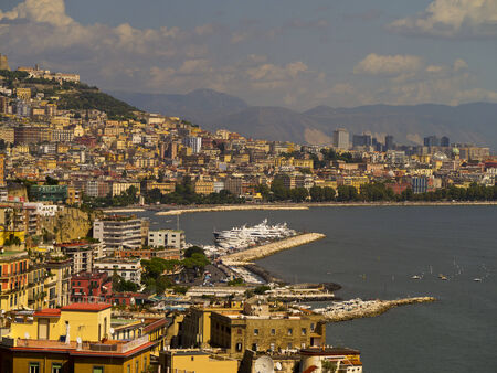 italian alpine troops: Buildings on the Waterfront of Naples Editorial