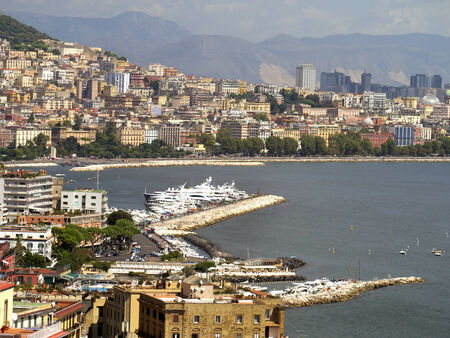 italian alpine troops: The Waterfront of Naples