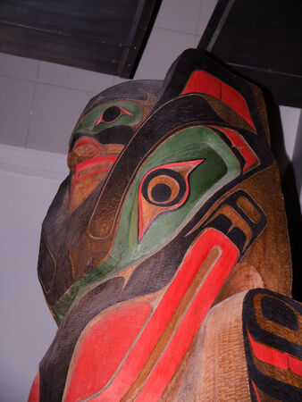 Western Canadian Totem Pole in English Museum