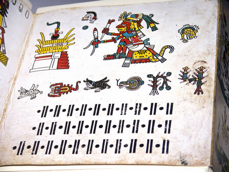 codex: Mexican Aztec Codex or Dream Book in English Museum Editorial