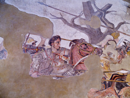alexander great: Alexander the Great Mosiac from the once buried city of Pompeii Italy Editorial