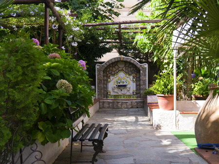 san michele: Little Courtyard on the Island of Capri Italy