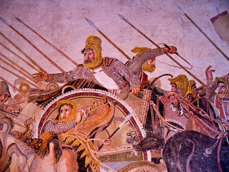 Alexander de Grote Mozaïek van de ooit begraven stad Pompeii Italië