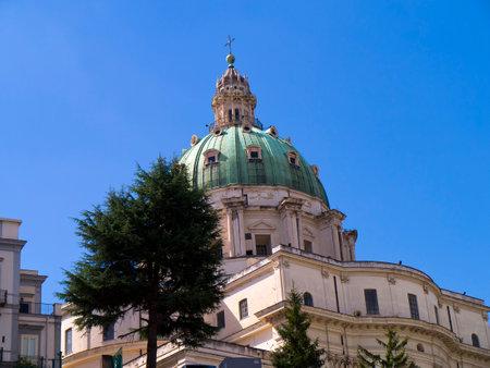 italian alpine troops: Basilica dell incoronata Maria del Buon Consiglio in Naples Italy
