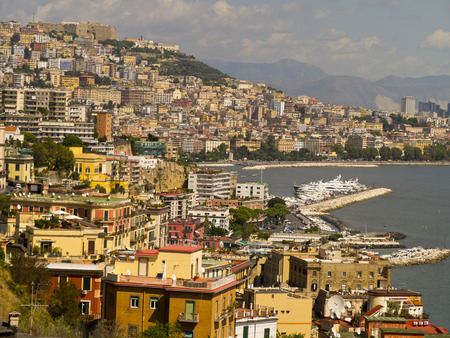 italian alpine troops: The Waterfront of Naples  Italy