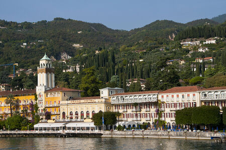 maderno: Gardone Riviera is one of the lovely towns on this lake in Northern Italy  Lake Garda is a popular European tourist destination   It lies in the province of Brescia, in the region of Lombardy  This is Italy s largest lake