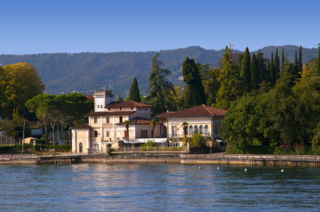 Gardone Riviera is one of the lovely towns on this lake in Northern Italy  Lake Garda is a popular European tourist destination   It lies in the province of Brescia, in the region of Lombardy  This is Italy s largest lake