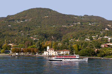 maderno: Ferry on Lake Garda Italy Editorial