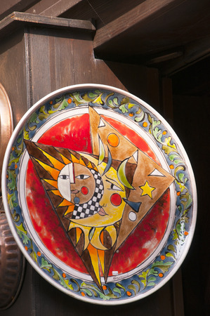 sirmione: Pottery tourist items being sold at Sirmione Lake Garda  Italy Editorial
